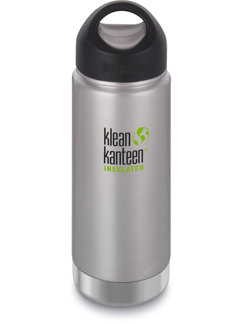Klean Kanteen Wide Vacuum Insulated Bottle Stainless Loop Cap 473ml Brushed Stainless